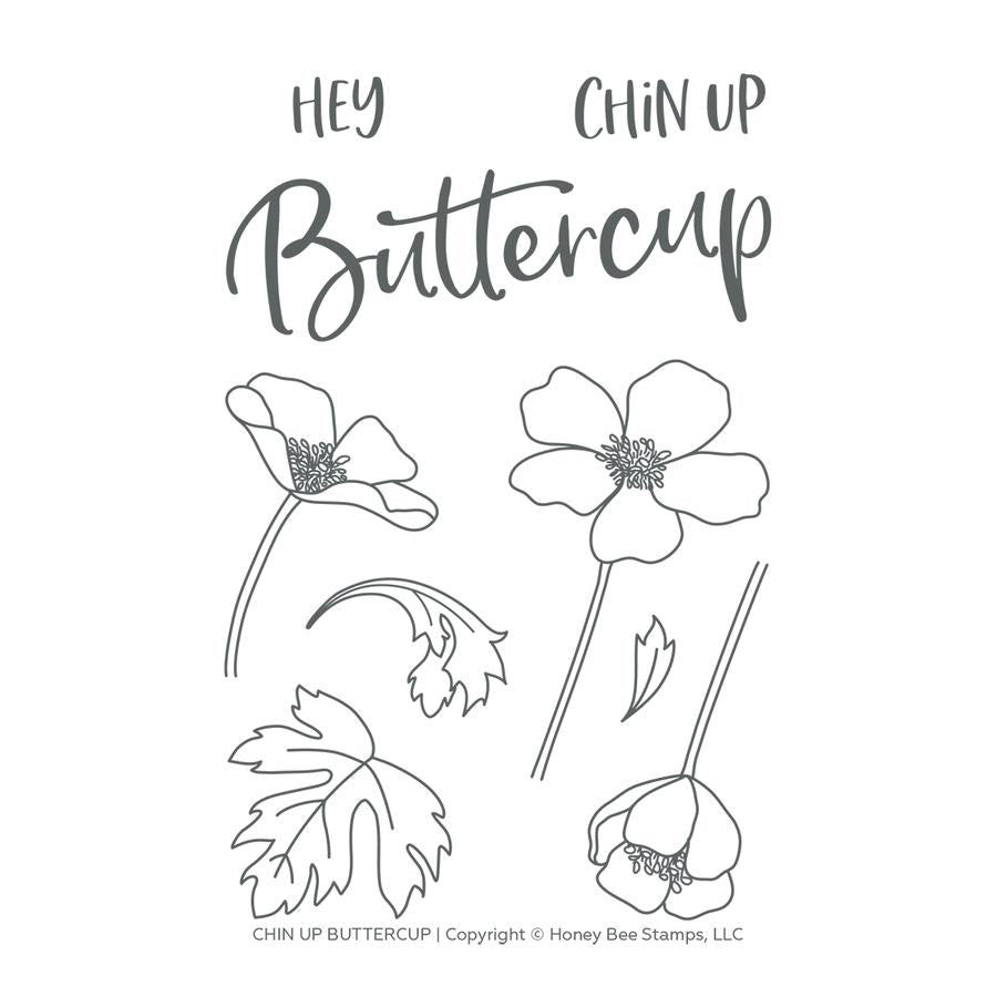 Chin Up Buttercup Stamp Set