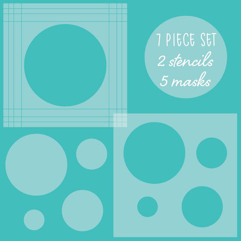 Circle Spotlight Stencils & Mask Set of 7