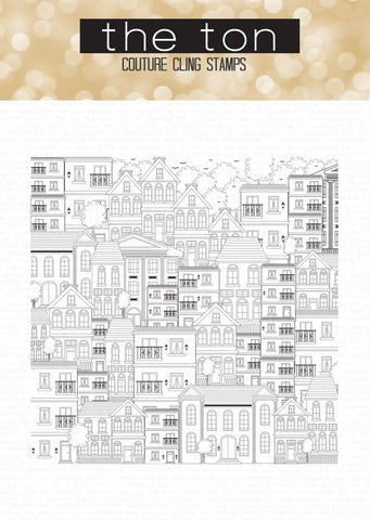 City Buildings Cling Background