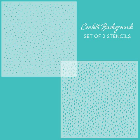 Confetti Background Stencils - Set of 2