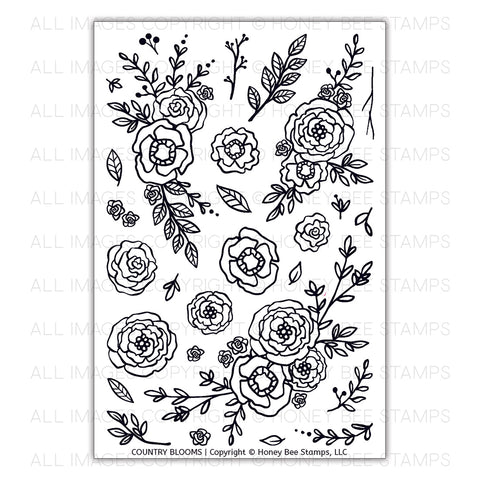 Country Blooms Stamp Set