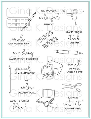 Crafty Notes Stamp Set
