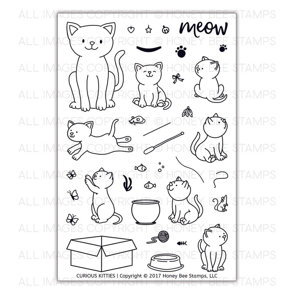 Curious Kitties Stamp Set