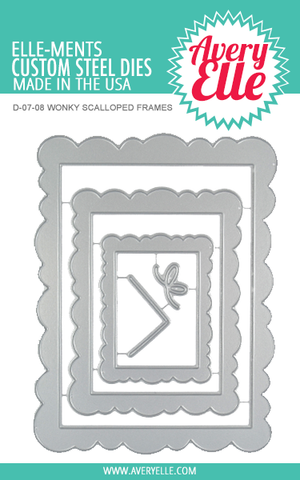Die: Wonky Scalloped Frames Elle-ments