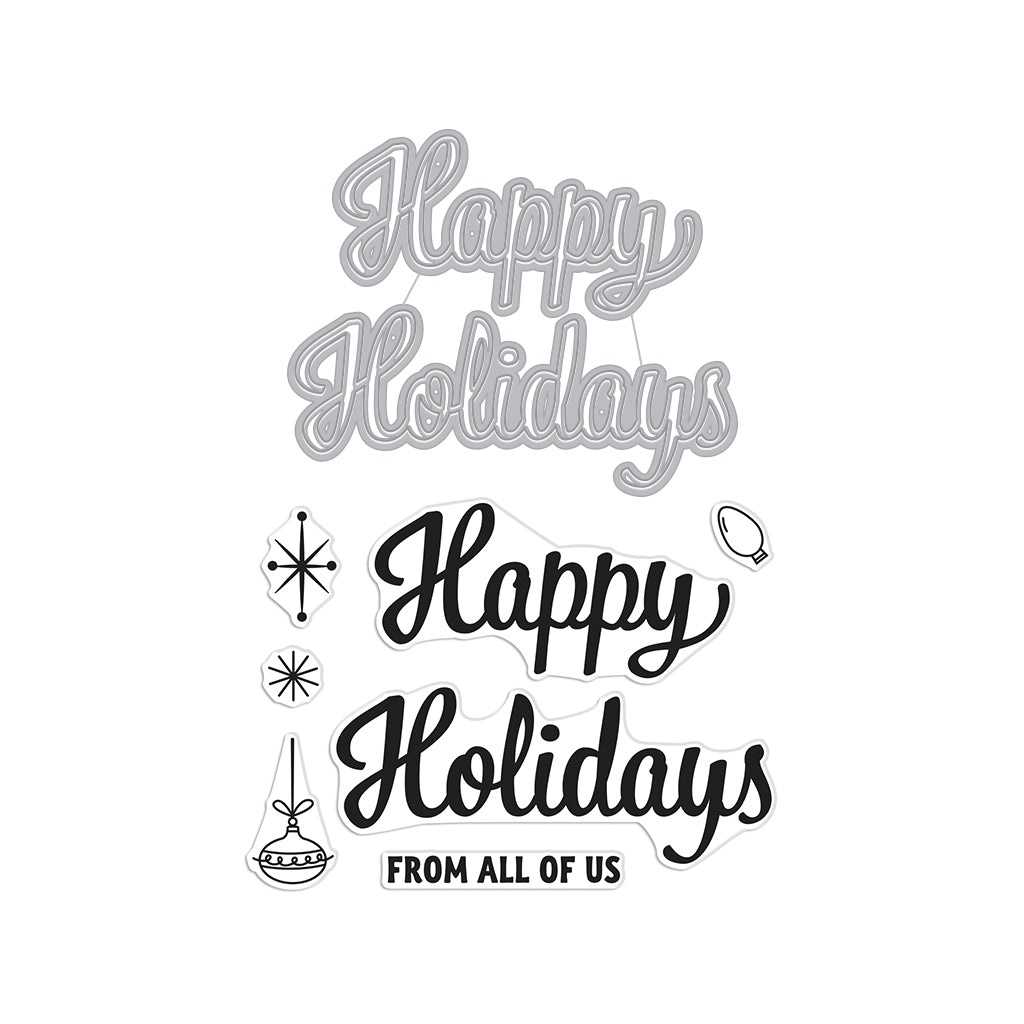 Happy Holidays Script Stamp & Cut