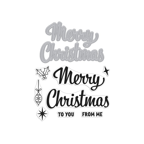 Merry Christmas Script Stamp & Cut