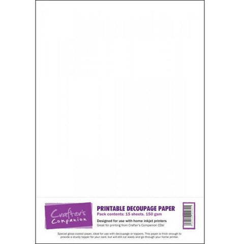 Crafter's Companion Printable Decoupage Paper - 15 sheets