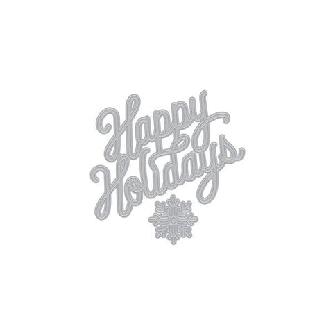 Holiday message Fancy Die