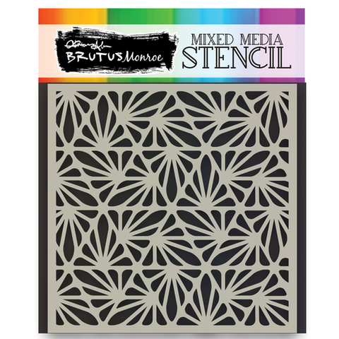 Mixed Media Stencil - Deco Flower