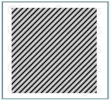 Rubber Background Stamp - Diagonal Stripes