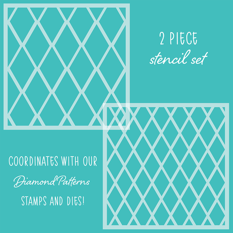 Diamond Patterns Set of 2 Stencils