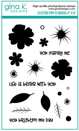 Electro Pop Flowers Stamp Set
