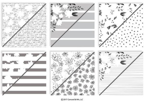 Floral Fill-In Patterned Paper