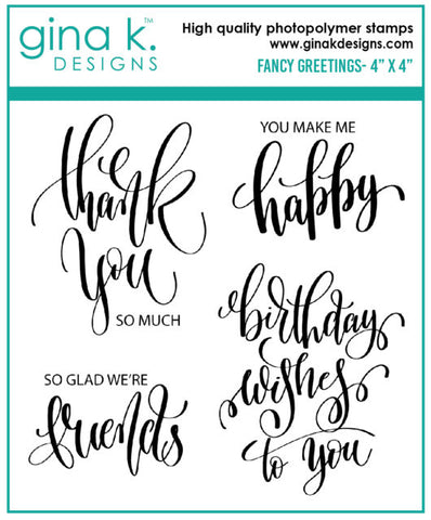 Clear Stamps - Fancy Greetings