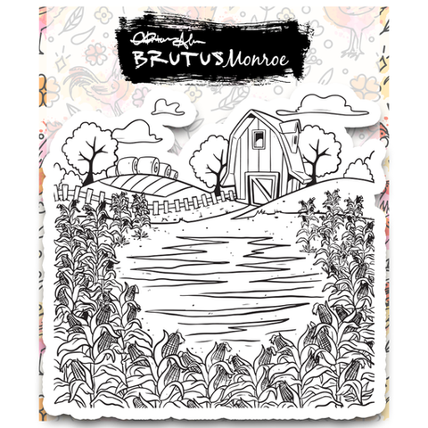 Farmland 6x6 Background Stamp