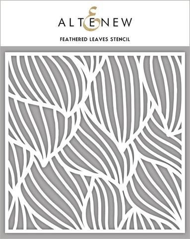Feathered Leaves Stencil