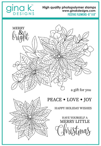 Clear Stamps - Festive Flowers