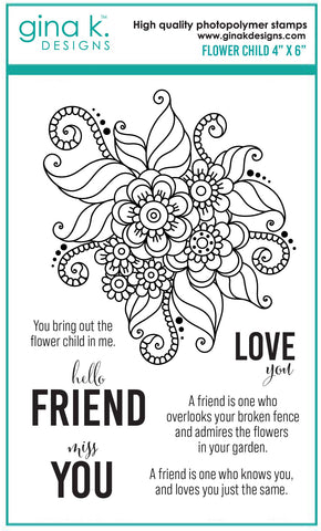 Clear Stamps - Flower Child