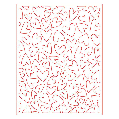 FLuttering Hearts Cover Plate Honey Cuts