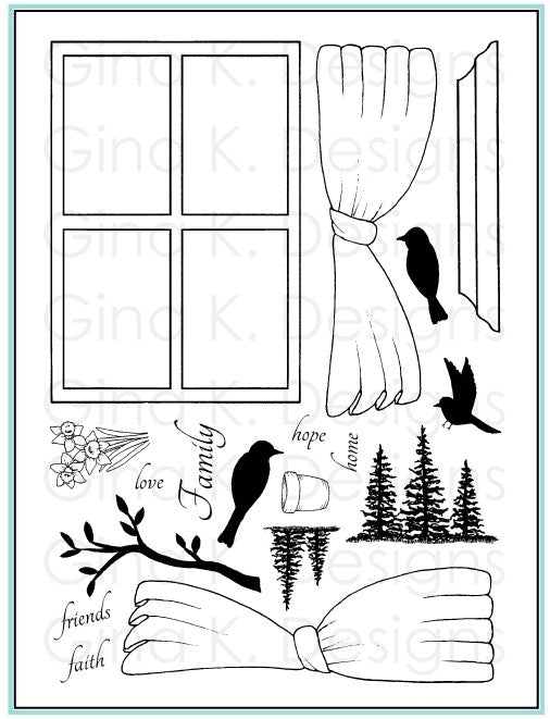 Clear Stamps Framescapes Window of Wishes