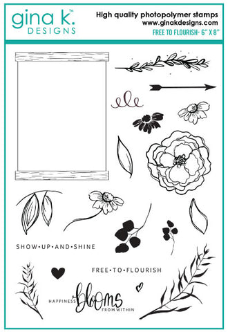Clear Stamps - Free to Flourish