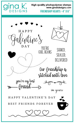 Clear Stamps - Friendship Hearts