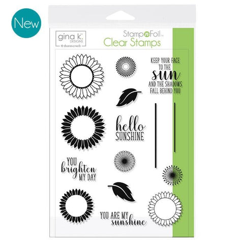 GKD Stamp & Foil Graphic Sunflowers Stamp Set