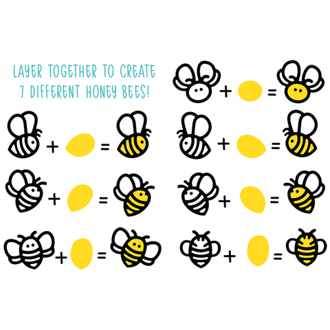 Honey Bee Paper Piecing Honey Cuts