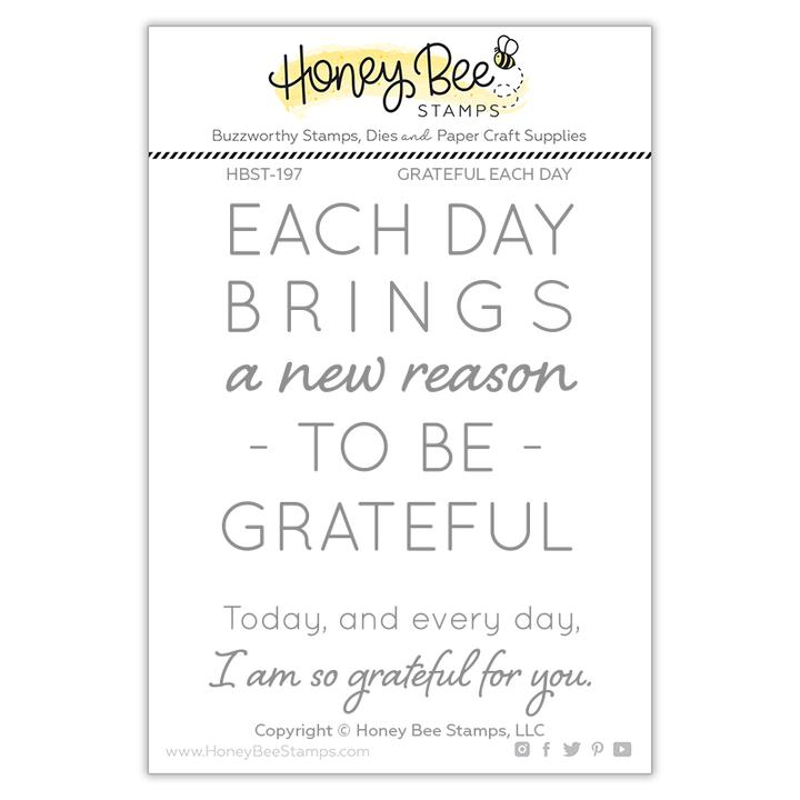 Grateful Each Day Stamp Set