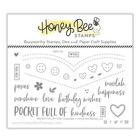 Pocket Full of Love 4x6 Stamp Set