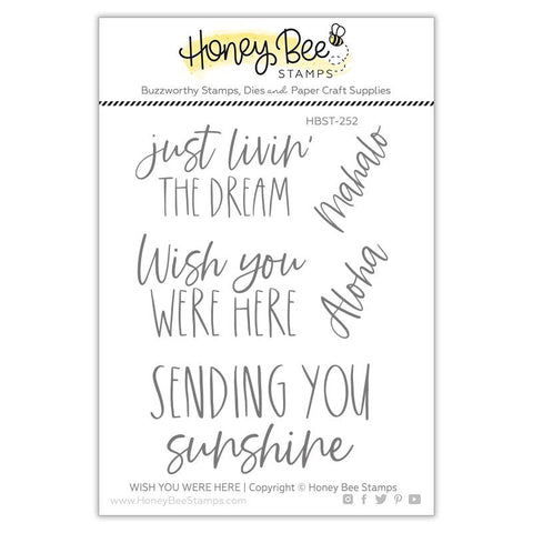 Wish You Were Here 3x4 Stamp Set