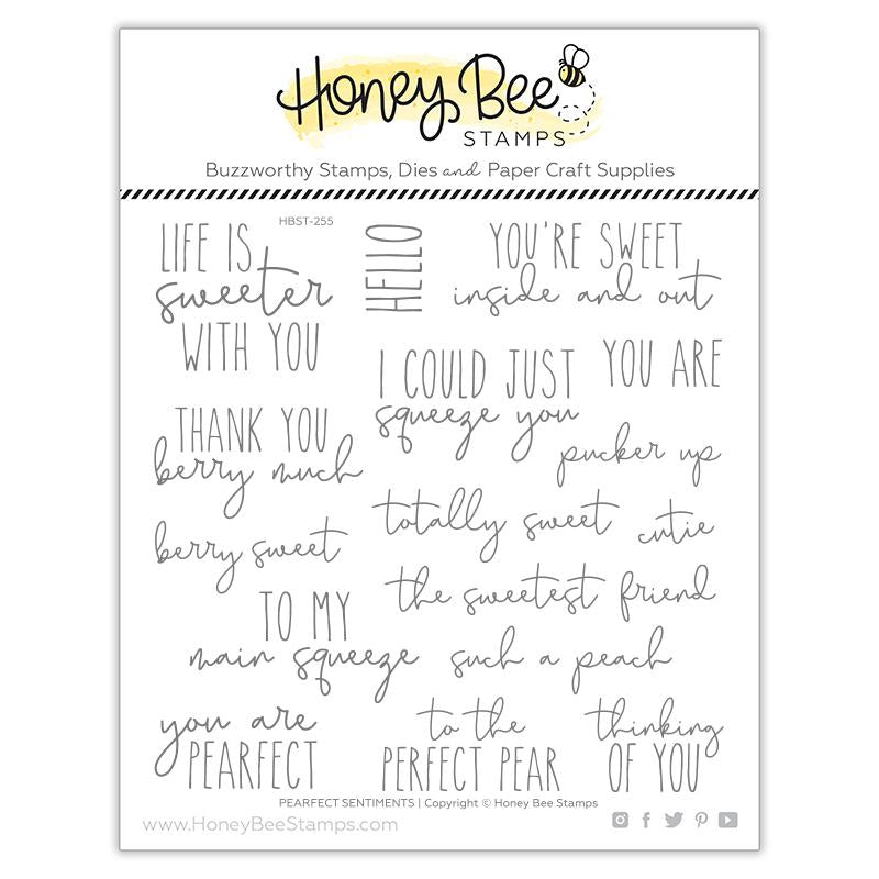 Pearfect Sentiments 6x6 Stamp Set