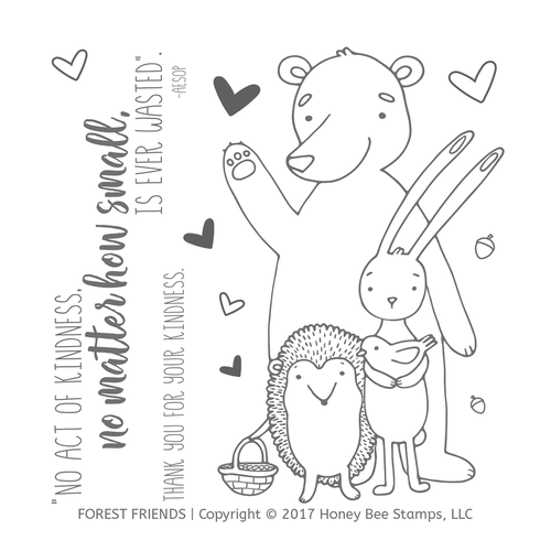 Forest Friends 4x4 Stamp Set