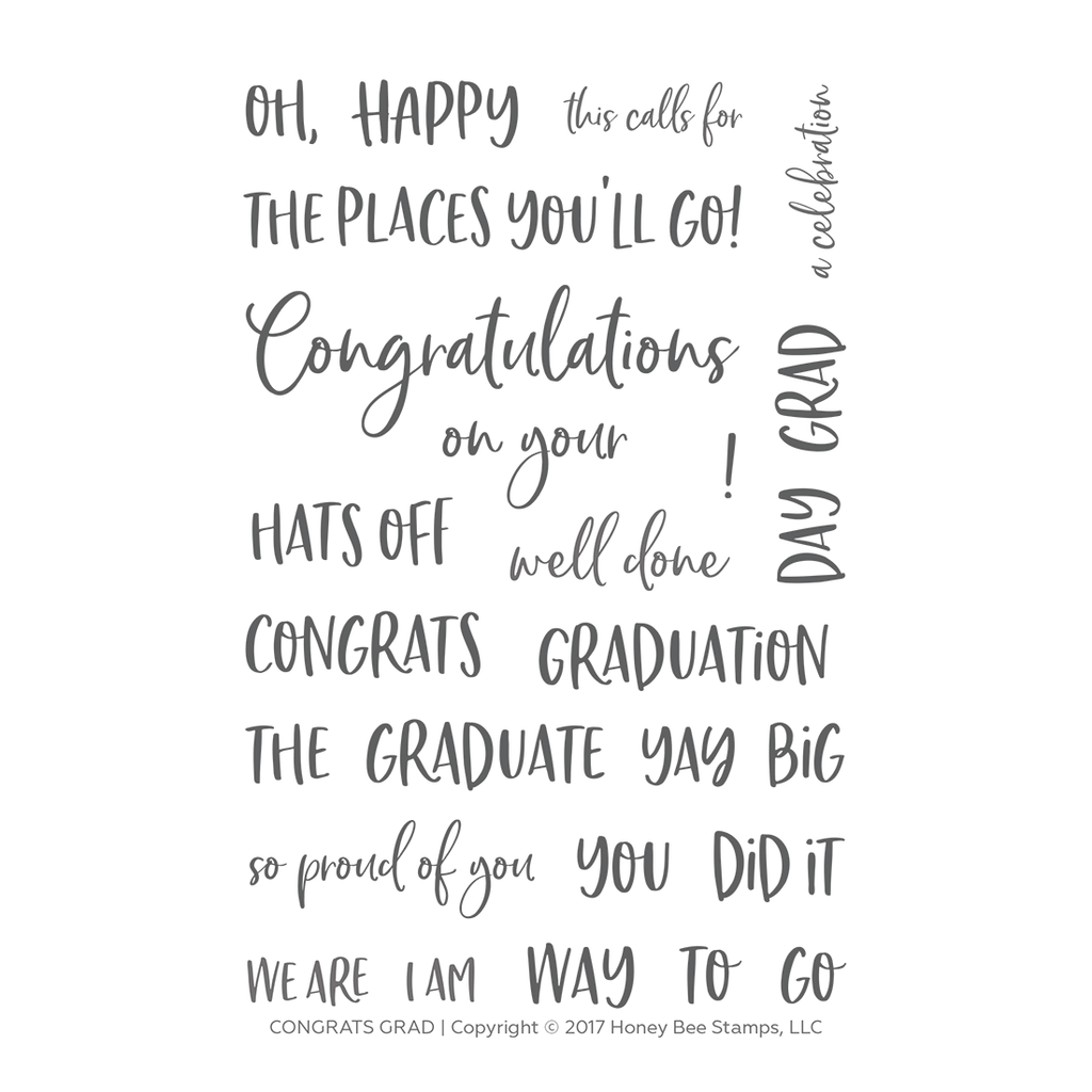 Congrats Grad 4x6 Stamp Set