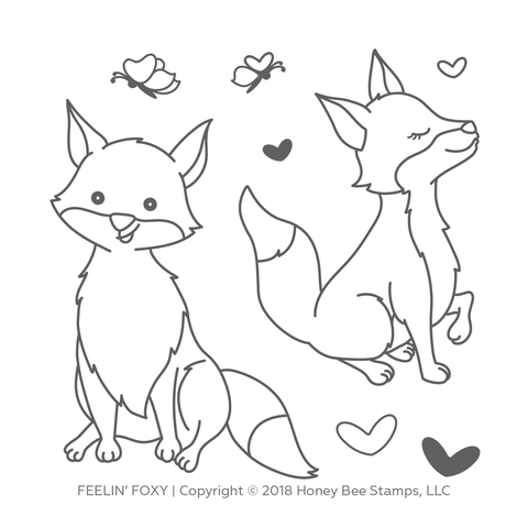 Feelin' Foxy 4x4 Stamp Set