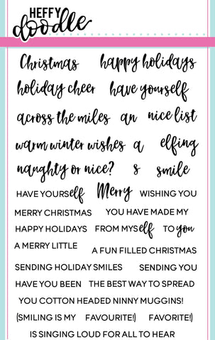 Elfing Christmas Words Stamps