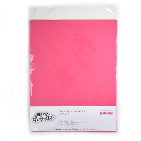 "Razzleberry 8.5"" x 11"" coloured cardstock (10 sheets)"