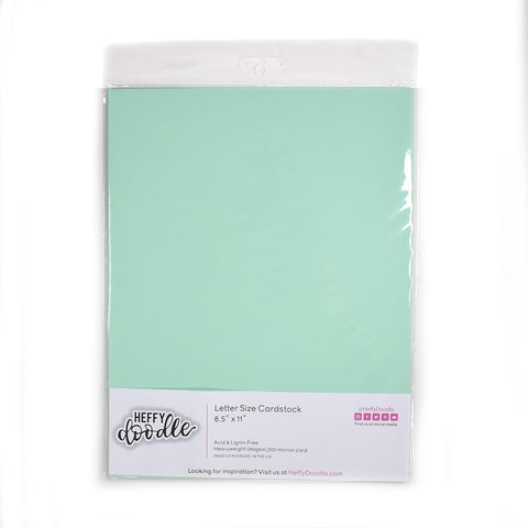 "Hint of Mint 8.5"" x 11"" coloured cardstock (10 sheets)"