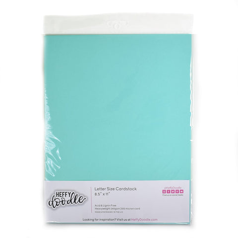 "Simply Teal-icious 8.5"" x 11"" coloured cardstock (10 sheets)"