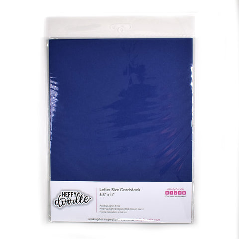 "Blueberry Bliss 8.5"" x 11"" coloured cardstock (10 sheets)"