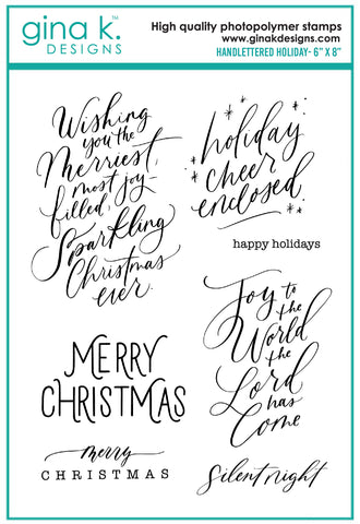 Clear Stamps - Handlettered Holidays
