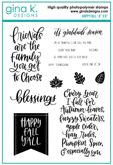 Clear Stamps Happy Fall Stamp Set