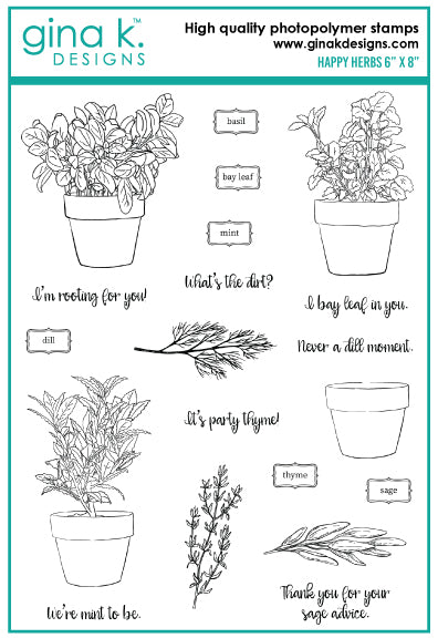 Clear Stamps - Happy Herbs