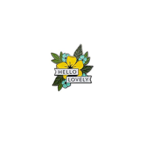 Hello Lovely Enamel Pin