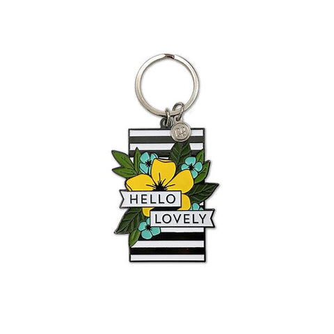 Hello Lovely Enamel Keychain