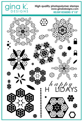 Clear Stamps - Holiday Hexagons