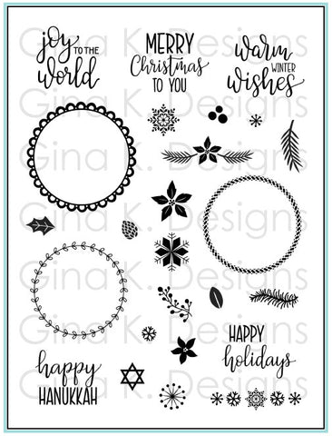 Clear Stamps Holiday Wreath Builder