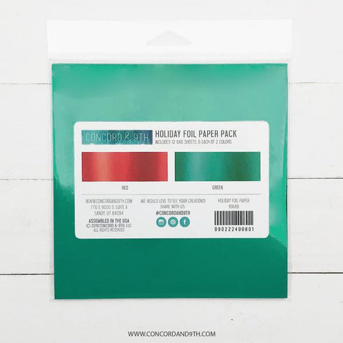 Holiday Foil Paper Pack
