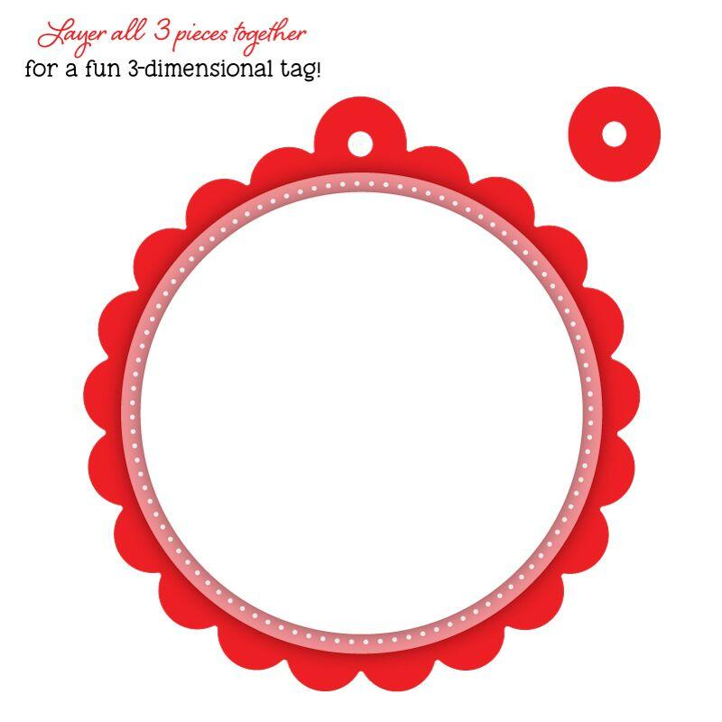 Scallop Circle Gift Tag Honey Cuts