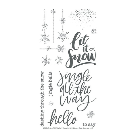 Jingle All The Way 4x8 Stamp Set